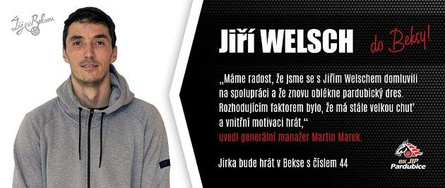 Jiří Welsch se vrací do Pardubic.