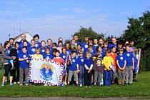 Účastníci Sletové štafety v Dolních Ředicích v září 2011