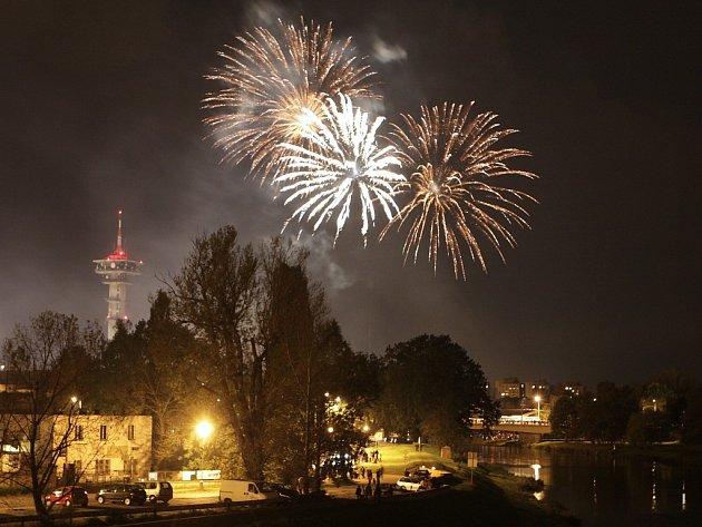 Městské slavnosti - ohňostroj