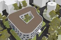 Vizualizace nového pavilonu psychiatrie v Pardubické nemocnici.