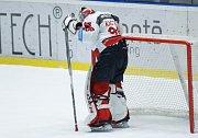 Hokejové utkání Tipsport extraligy v ledním hokeji mezi HC Dynamo Pardubice (bílém) a HC Verva Litvínov (v černožlutém) v pardudubické ČSOB po jišťovna ARENA.