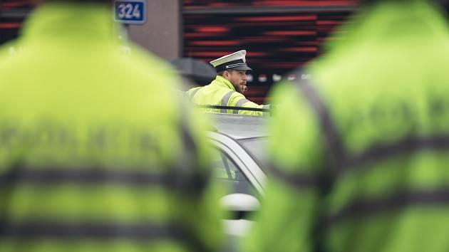 Soutěž dopravních policistů z Pardubického a Královéhradeckého kraje.