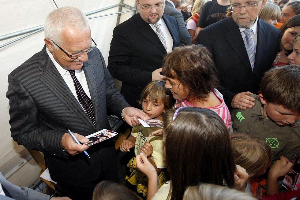 Prezidentská návštěva ve Skutči