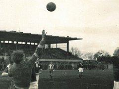 V srpnu 1937 se na místě současného letního stadionu uskutečnilo utkání domácího týmu proti Náchodu. Pro pardubický fotbal se jednalo o premiérový zápas v první lize.