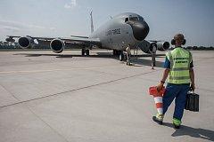 Do Pardubic přilétly dva americké tankovací letouny KC-135.