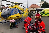 Záchranáři v akci. Ilustrační foto.