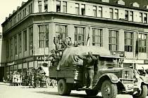 Příjezd Rudé armády do Pardubic 10. května 1945.