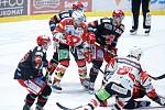 Hokejová extraliga: HC Dynamo Pardubice - HC Oceláři Třinec.