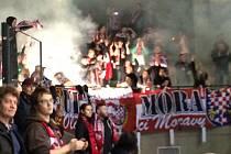 Výtržnost fanoušků Olomouce. Po skončení utkání odpálili v hale pyrotechniku.