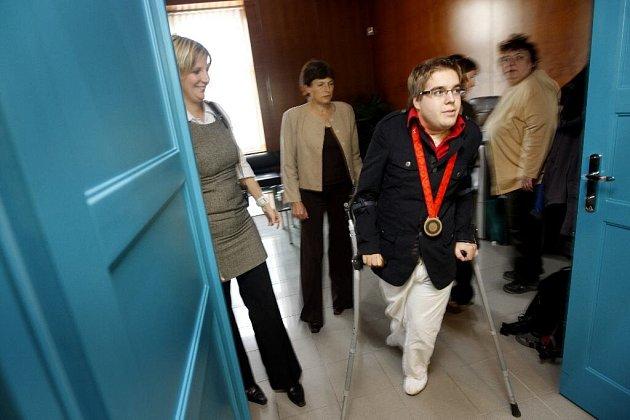 Mezi paralympiky byl i bronzový medailista ve hře boccia Radek Procházka.