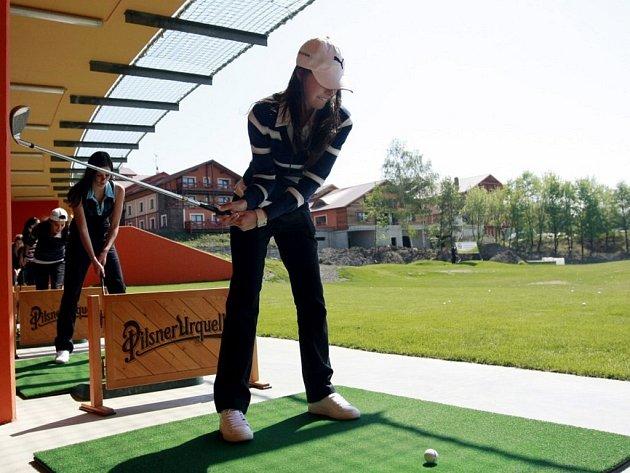 Škola golfu v Dřítči.