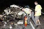V troskách favoritu po střetu dvou osobních automobilů zahynula u Holic 21letá dívka, dalších 8 osob včetně 3 dětí bylo zraněno,