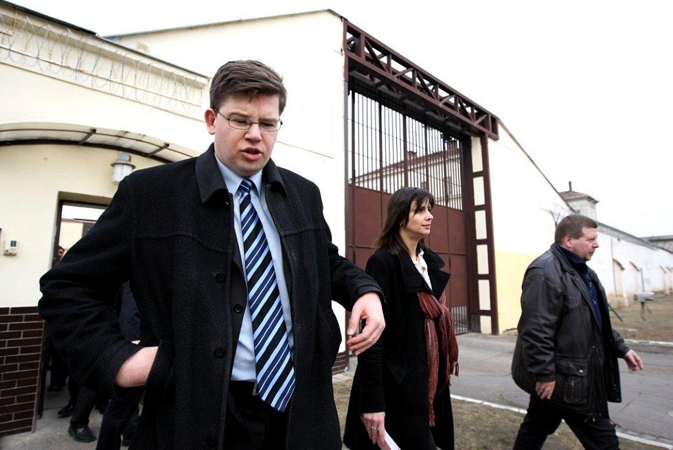 Ministr spravedlnosti Jiří Pospíšil na návštěvě pardubické věznice