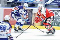 Hokejová extraliga: HC Dynamo Pardubice - HC Kometa Brno.