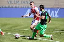 Fotbalové utkání FK Pardubice - FC Viktoria Plzeň, na snímku pardubický záložník Tomáš Solil.
