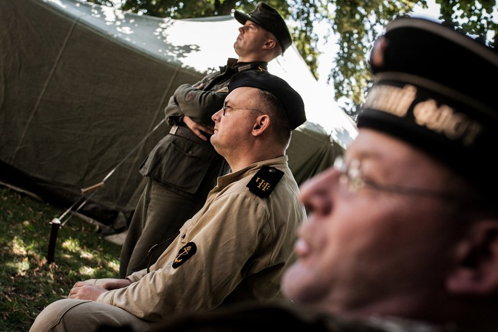 Do Králík na Cihelnu 2017 lákali v Pardubicích příslušníci ozbrojených sil i členové klubů vojenské historie.