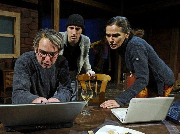 Z představení Kacířka. Tomáš Kolomazník vlevo