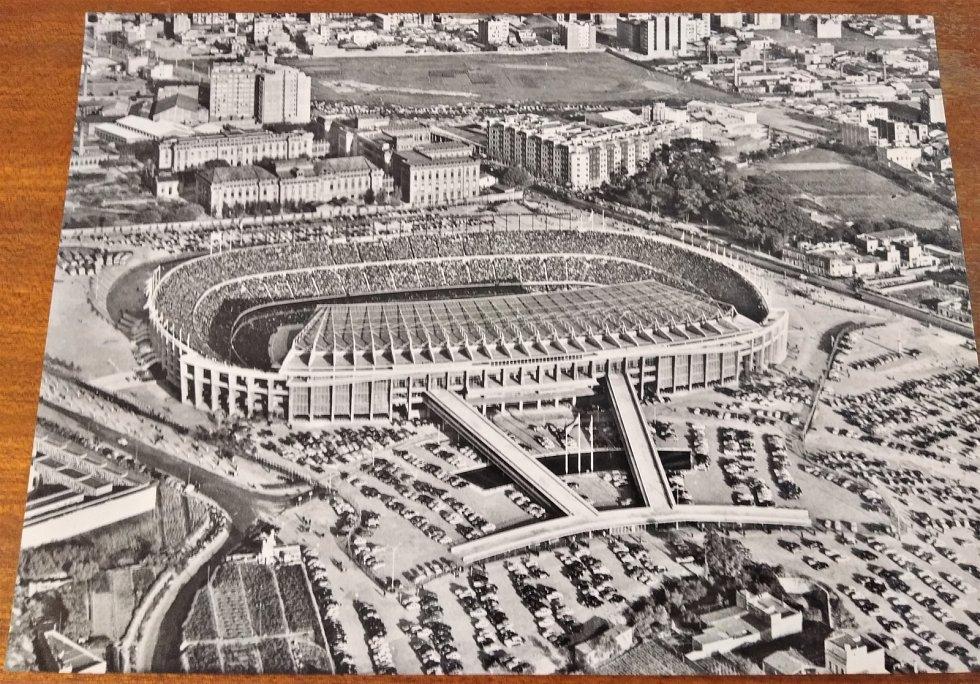 Camp Nou, fotbalový chrám FC Barcelona v šedesátých letech minulého století