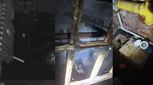 Strážníci zaskočili za instalatéry, voda v uplynulých dnech unikala hned na třech místech.
