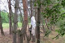 Svršky na stromě u písníku Hrádek jsou záhadou. Policie už kvůli podezření na utonutí hledá v okolí vodní plochy jejich majitele.