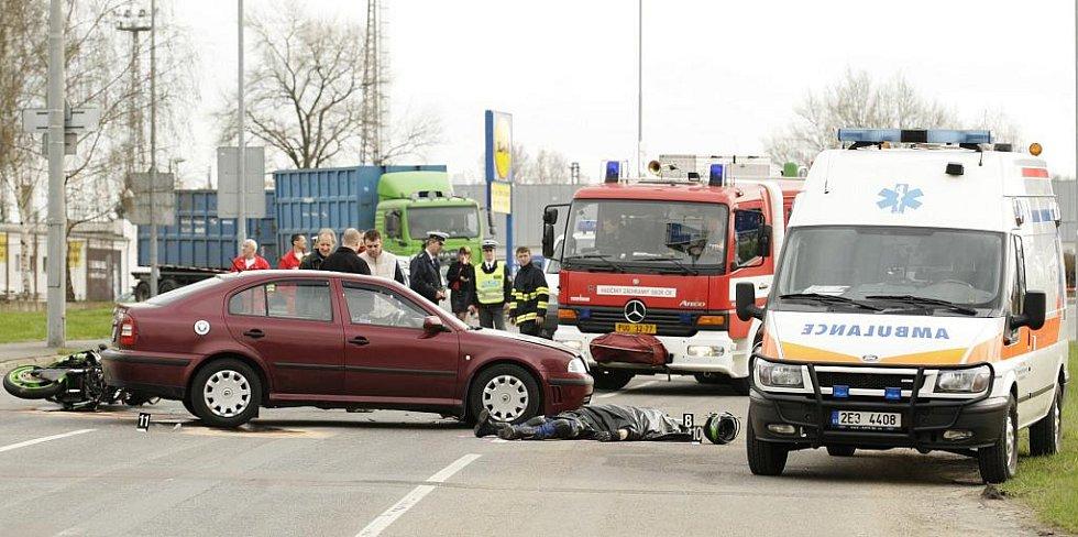 1. dubna 2010. Jednačtyřicetiletý motorkář střet s osobním vozidlem nepřežil. Jel příliš rychle.