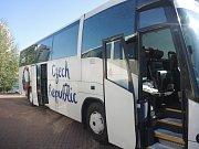 Autobus českého národního týmu.