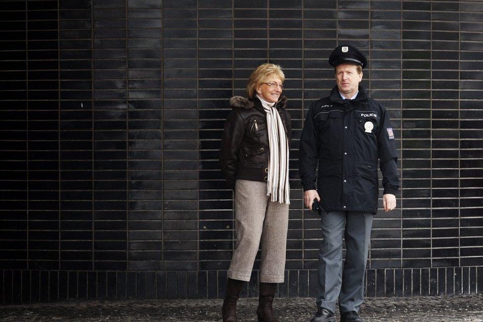 Starostka prvního městského obvodu Hana Tomanová s Rostislavem Hüblem