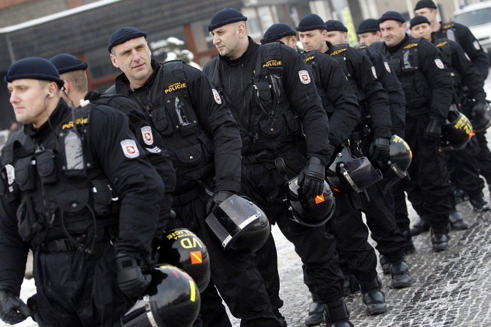 Přítomna byla i pořádková jednotka pardubické městské policie