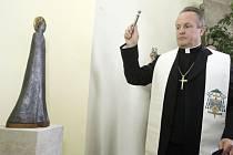 Kancelář senátorky Horské chrání socha svaté Anežky