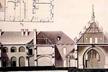 Původní podoba budovy školy v ulici Klášterní