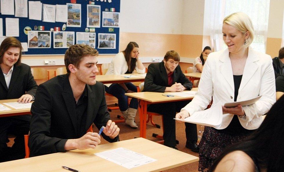 Maturanti na Střední odborné škole EDUCA Pardubice.