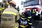 Soutěž ve vyprošťování osob z havarovaných vozidel pro hasiče z Pardubického a Královéhradeckého kraje. Vítězné družstvo ze Svitav.