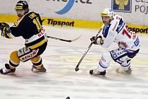Hokejové utkání mezi Pardubicemi a Litvínovem