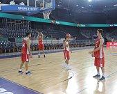 Hala Sala Polivalenta, kde měl český národní tým první trénink a kde budou hrát zápasy.