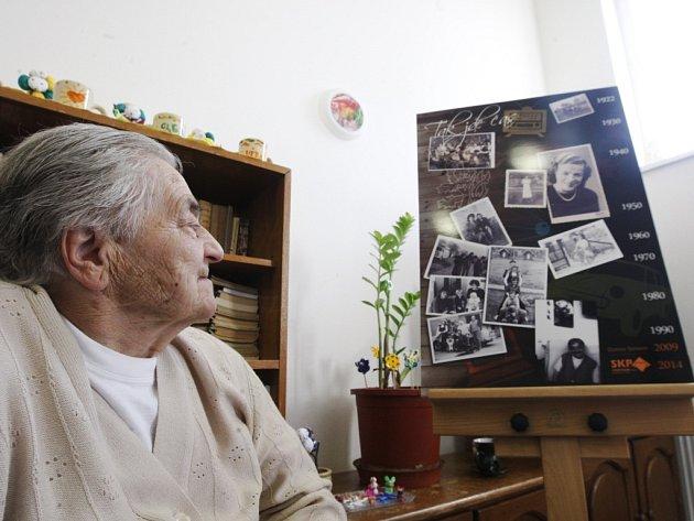 Marie Troníčková z Dřítče je jednou z aktuálních klientek Domova Simeon