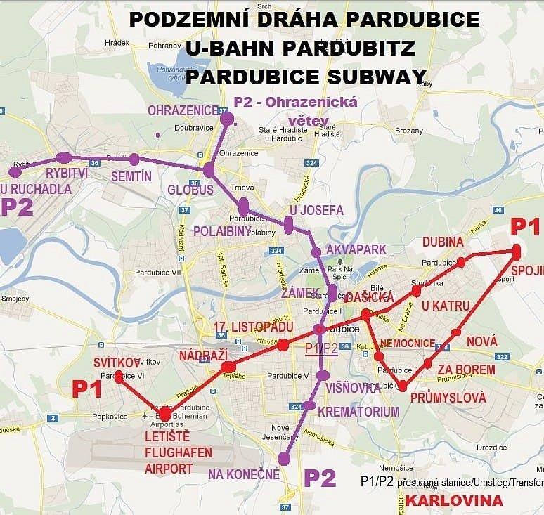Další z plánů na pardubické metro