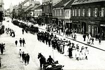 Pohřeb profesora Josefa Slezáka 10. června 1918.