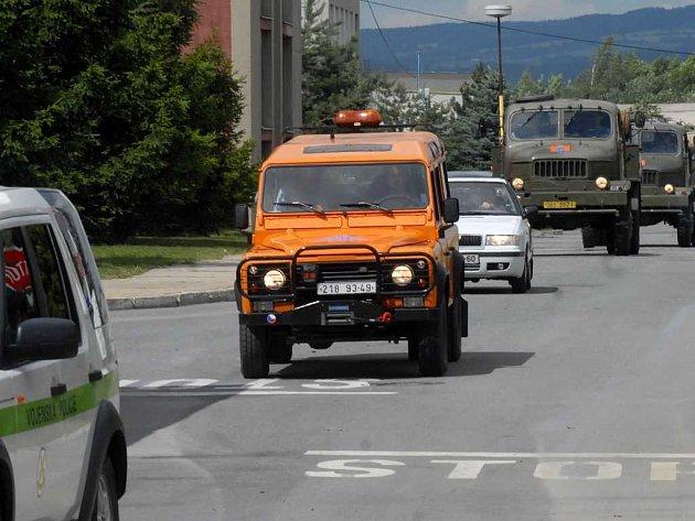 Odjezd vojáků z Olomouce do Nořína
