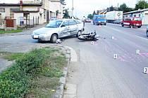 K nehodě došlo 26. 9. na křižovatce ulic Vysokomýtská a Zahradní v Holicích