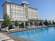 Hotel, kde jsou ubytovaní čeští basketbalisté.