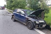 Dopravní nehoda u Ostřetína