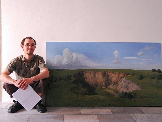 Výstava léčivých obrazů Zdeňka Daňka v galerii Mázhaus v Pardubicích