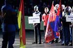 Slavnostní zahájení her VIII. zimní olympiády dětí a mládeže České republiky v pardubické Tipsport Areně.