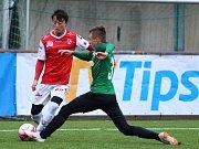 Zimní fotbalová Tipsport liga: FK Jablonec - FK Pardubice.