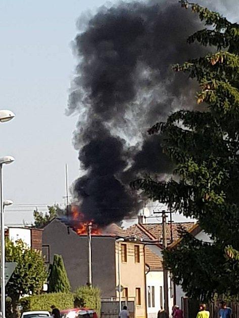 Požár vRosicích