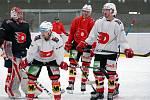 Hokejisté Pardubic už trénují v rámci přípravy taky na ledě.