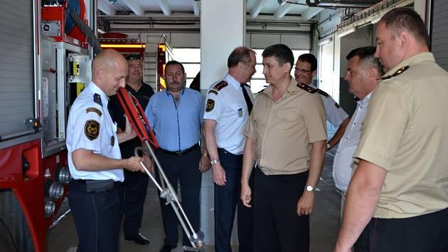 Pardubičtí hasiči přivítali návštěvu kolegů z Ukrajiny