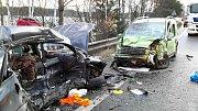 Tragicky bohužel skončil střet dvou vozidel na silnici I/35 u Mikulče.