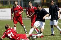 Z divizního utkání  FK Pardubice – Velim (2:0)