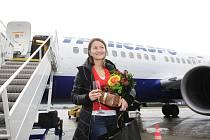 DevětadvacetiletáOlga Kuprina z Moskvy se stala stotisícím letošním klientem pardubického letiště!